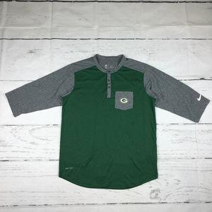 Nike Dri-Fit NFL Green Bay Packers tshirt Q16